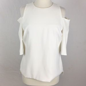 Ted Baker Careo White Cold Shoulder Top Blouse